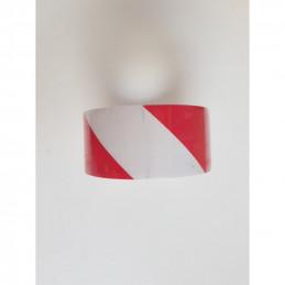 Ruban adhésif 50mm*33m rouge et blanc