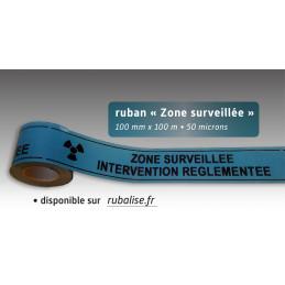 Rubalise plastique zone surveillée intervention règlementée 100mm*100m