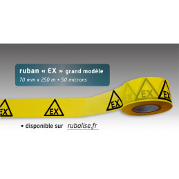 Rubalise jaune EX - 70mm*250m