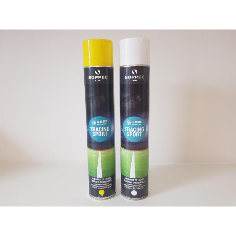 Bombe de marquage tracing peinture temporaire pour gazon - 3 à 6 mois - 2 coloris