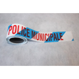 Rubalise plastique police municipale75mm*100m