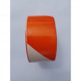 Ruban de signalisation orange et blanc 50mm*100m - Rubalise