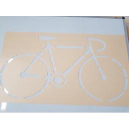 Pochoir vélo pour marquage au sol