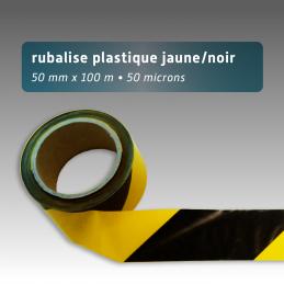 Rubalise plastique 50mm*100m jaune/noir