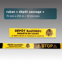 Rubalise plastique 75mm*250m : dépôts sauvage enquête en cours
